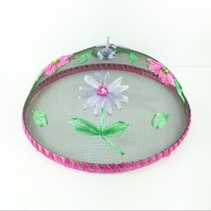 Other - Floral Food Screen Pink Purple Green Dome Cover